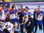 Serbia team during time out session